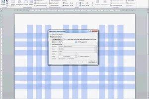 Word 2010: Karierter Hintergrund - so gelingt die Formatierung
