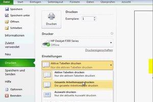 Bei Excel mehrere Tabellen ausdrucken - so geht's
