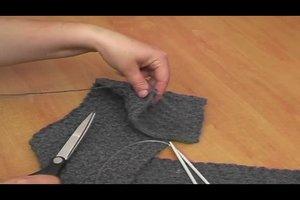 Schal stricken - Anleitung für einen Herrenschal