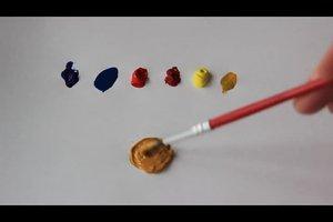 wie mischt man die farbe braun
