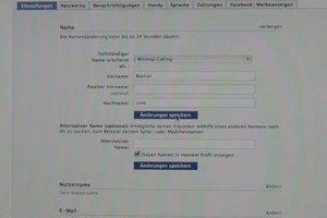 Bei Facebook Name ändern - so geht´s
