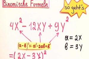 Faktorisieren mit binomischen Formeln - die Matheexpertin erklärt, wie's geht
