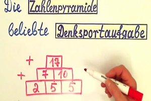 Zahlenpyramide in der Grundschule - so wird sie berechnet