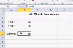 Mit Minus in Excel rechnen - so geht's
