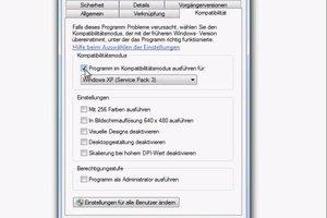 Windows 7 32 Bit - Kompatibilitätsmodus starten