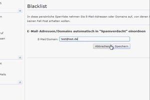 Bei GMX eine Blacklist einrichten - so klappt's