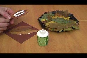 Herbstdekoration mit Kastanien für den Tisch basteln - Anleitung