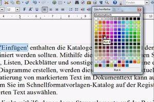 Bei OpenOffice die Schriftfarbe ändern - so geht's