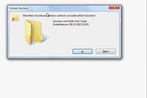 Löschen mittels Tastenkombination - so entfernen Sie Dateien per Tastendruck