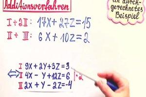 Additionsverfahren bei 3 Gleichungen - so wird's gemacht