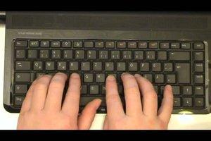 Zehnfingersystem lernen - erste Übungen