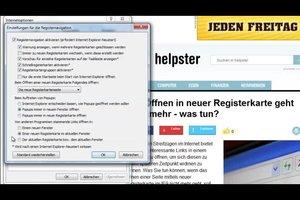 IE9: Öffnen in neuer Registerkarte geht nicht mehr - was tun?