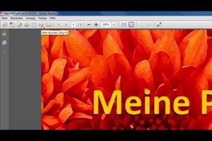 PDF-Datei drucken geht nicht - was tun?
