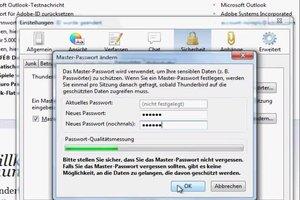 Bei Thunderbird Passwortschutz einrichten - so geht es