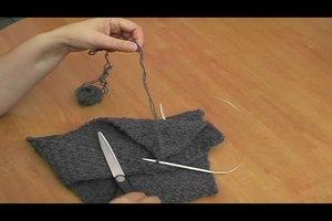 Schal - so stricken Sie das Ende ab