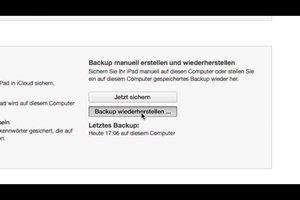 iTunes-Backup auswählen - so gehen Sie vor