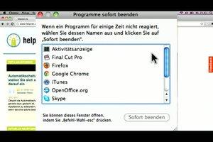 Beim Mac das Programm-Beenden erzwingen - so geht´s