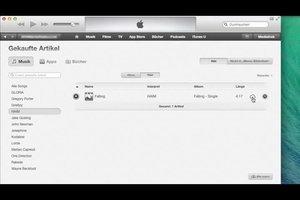 Bereits gekaufte Musik laden - in iTunes funktiert's so