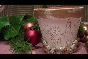 Basteln mit Tontöpfen für Weihnachten