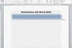 Notenlinien mit Word zeichnen - so geht's