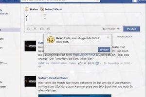 Notenschlüssel auf Facebook - das Zeichen per Tastatur erstellen