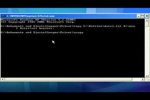 PC-Befehle - so kopieren Sie Dateien im CMD