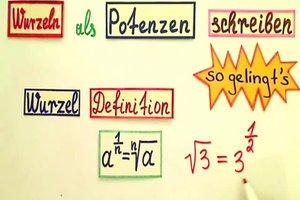Wurzel als Potenz schreiben - die Matheexpertin erklärt, wie es geht
