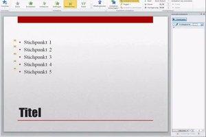 In PowerPoint die Stichpunkte einzeln eintragen - so geht's