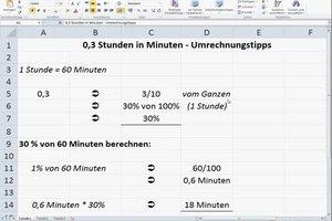 0,3 Stunden in Minuten - Umrechnungstipps
