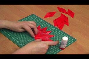 Sterne falten aus Transparentpapier - Anleitung