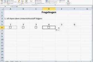 Fragebogen mit Excel erstellen - so geht's