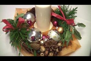 Weihnachtliche Gestecke selber gestalten
