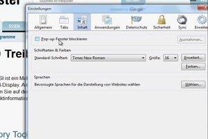 Firefox - neues Fenster automatisch öffnen verhindern