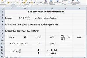 Formel für den Wachstumsfaktor - verständlich erklärt