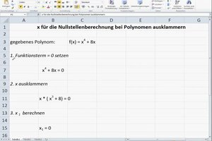 x ausklammern - so klappt's für die Nullstellenberechnung bei Polynomen