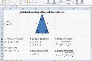 Gleichschenkliges Dreieck berechnen - so geht's