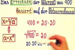 Wurzel aus 400 - Grundlagen der Wurzelrechnung leicht erklärt