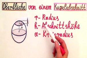 Kugelabschnitt - Formel