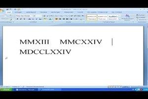 Römische Zahlen mit der Tastatur schreiben - so geht's