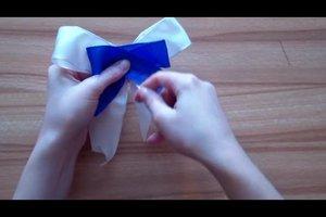 Schleifen binden für Adventskranz - Anleitung für Ungeübte