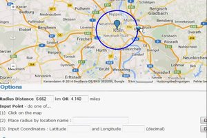 Google Maps - Radius ziehen