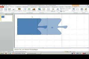 Puzzle mit PowerPoint 2010 erstellen - so machen Sie ineinandergreifende Formen