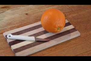 Orange schälen und filetieren - so wird's gemacht