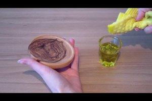 Olivenholz richtig pflegen
