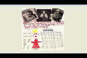 Kalender gestalten - Ideen mit selbstgemalten Bildern