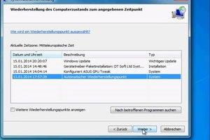 Windows 7 zurücksetzen auf Werkseinstellung ohne CD