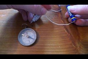 Magnet selber bauen - Bauanleitung für einen Elektromagneten