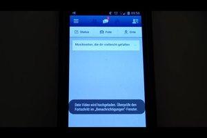 Bei Facebook ein Video hochladen - so geht's mit dem Handy