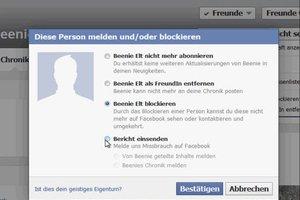 Bei Facebook jemanden melden - so geht's