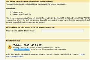 Bei Web.de Passwort vergessen - was tun?